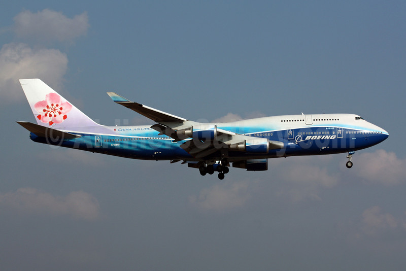 China Airlines Boeing 747-409 B-18210 (msn 33734) (Boeing colors) NRT (Michael B. Ing). Image: 901416.