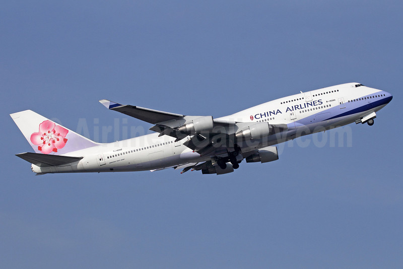 China Airlines Boeing 747-409 B-18202 (msn 28710) BKK (Michael B. Ing). Image: 910467.