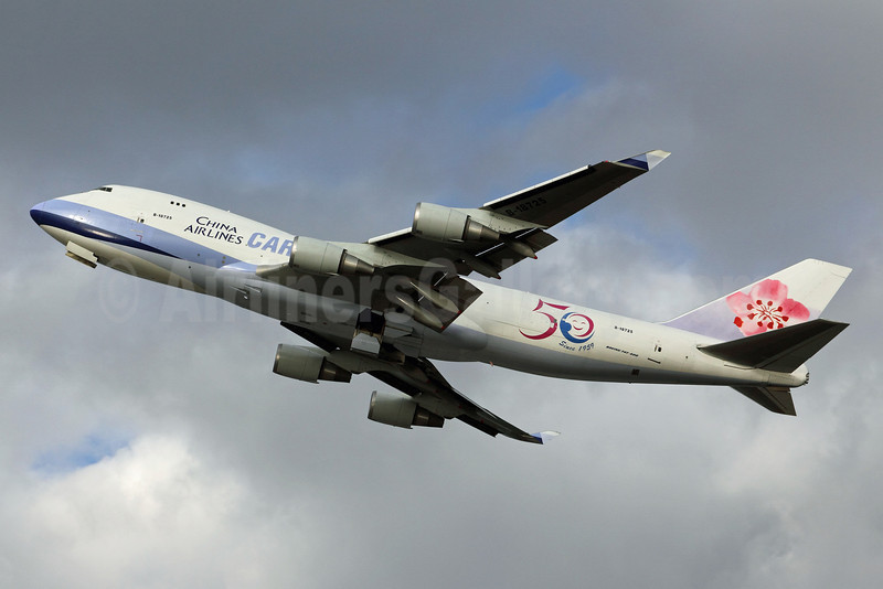 China Airlines Cargo Boeing 747-409F B-18725 (msn 30771) (50 Years Since 1959) ANC (Michael B. Ing). Image: 910476.