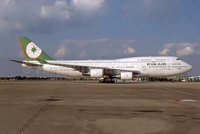 EVA Air Boeing 747-45E N409EV (B-16409) (msn 28093) LHR (SPA). Image: 952595.