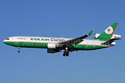 EVA Air Cargo McDonnell Douglas MD-11F B-16102 (msn 48543) LHR (Antony J. Best). Image: 938937.