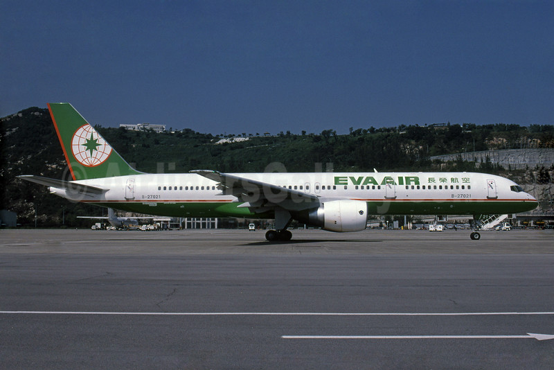 EVA Air (FAT) Boeing 757-27A B-27021 (msn 29611) (Rob Rindt Collection). Image: 924338.