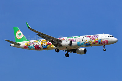 "EVA Air's 2017 ""Hello Kitty Friendship Bow"" logo jet"