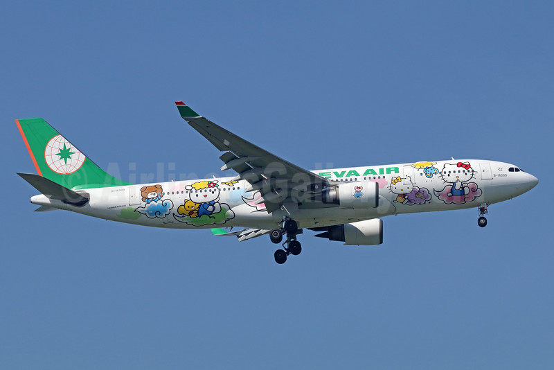 "EVA Air's 5th ""Hello Kitty"" logo jet"