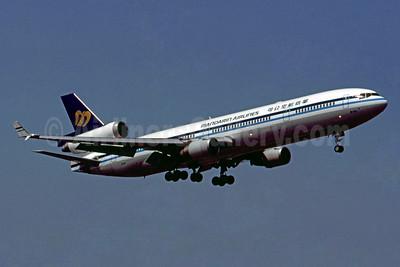 Mandarin Airlines McDonnell Douglas MD-11 B-151 (msn 48469) HKG (Bruce Drum). Image: 104257.