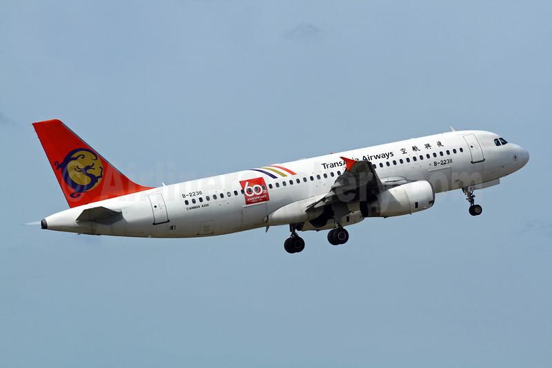 TransAsia Airways Airbus A320-232 B-22311 (msn 822) (60th Anniversary) TPE (Manuel Negrerie). Image: 908655.