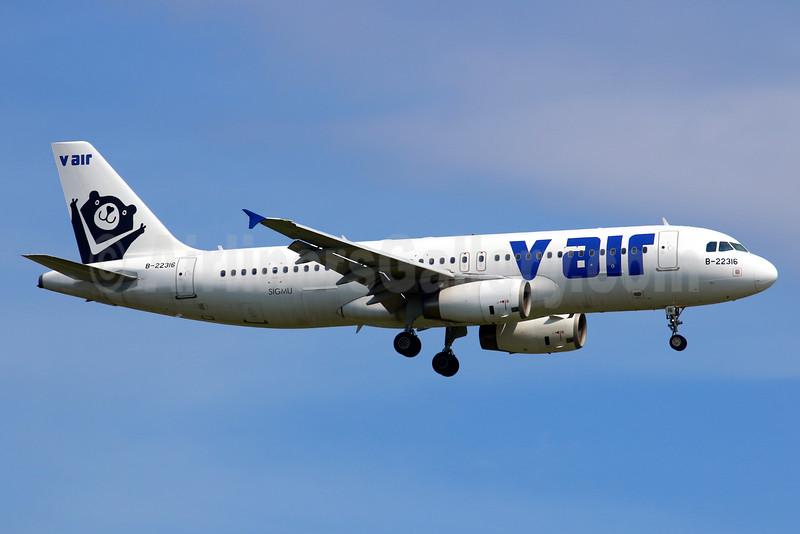 V Air (TransAsia Airways) Airbus A320-232 B-22316 (msn 5055) TPE (Manuel Negrerie). Image: 934266.