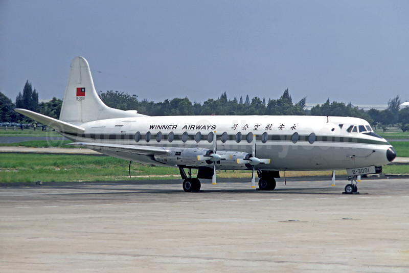 Winner Airways Vickers Viscount 808 B-3001 (msn 268) BKK (Christian Volpati Collection). Image: 928414.