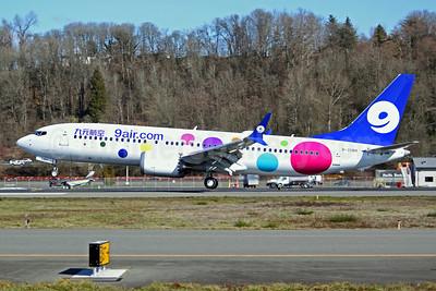 9 air (9air.com) (Nine Star Airways) Boeing 737-8 MAX 8 B-208H (msn 61377) BFI (Joe G. Walker). Image: 945825.