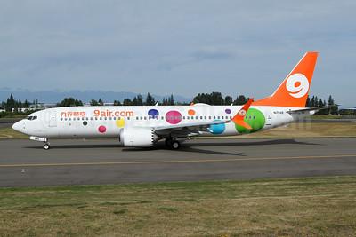 9 air (9air.com) (Nine Star Airways) Boeing 737-8 MAX 8 N1784B (B-206L) (msn 61374) PAE (Nick Dean). Image: 946987.