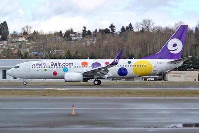9 air (9air.com) (Nine Star Airways) Boeing 737-800 WL B-1233 (msn 61365) BFI (Joe G. Walker). Image: 941305.