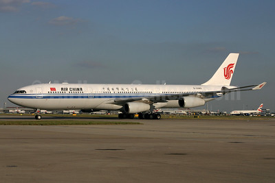 Air China Airbus A340-313 B-2389 (msn 243) LHR (SPA). Image: 940467.