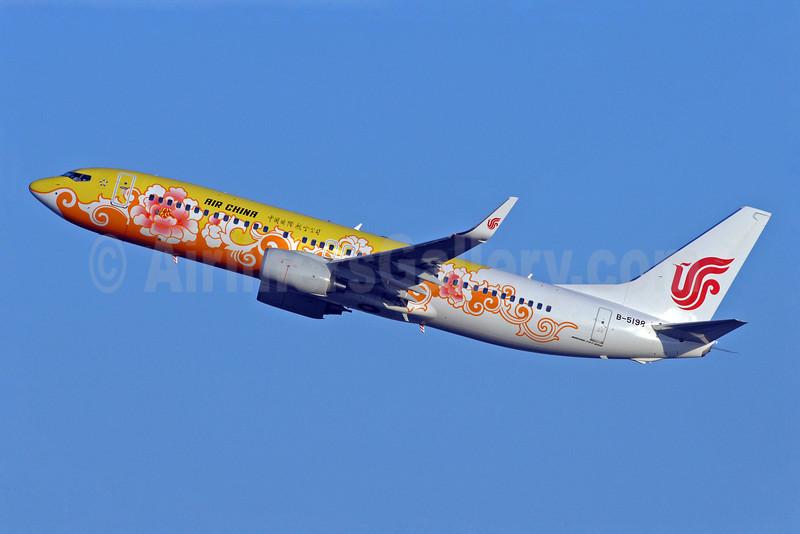 Air China Boeing 737-89L WL B-5198 (msn 36491) (orange-yellow Peony) PEK (Sam Chui). Image: 901823.