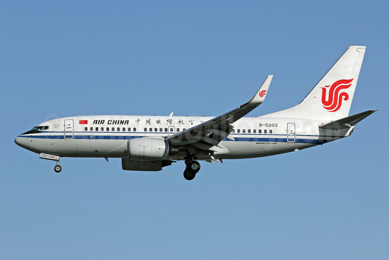 Air China Boeing 737-79L WL B-5203 (msn 34538) PEK (Michael B. Ing). Image: 907428.