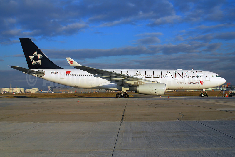 Air China Airbus A330-243 B-6091 (msn 867) (Star Alliance) FRA (Bernhard Ross). Image: 901977.