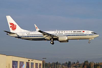 Air China's first Boeing 737-8 MAX 8
