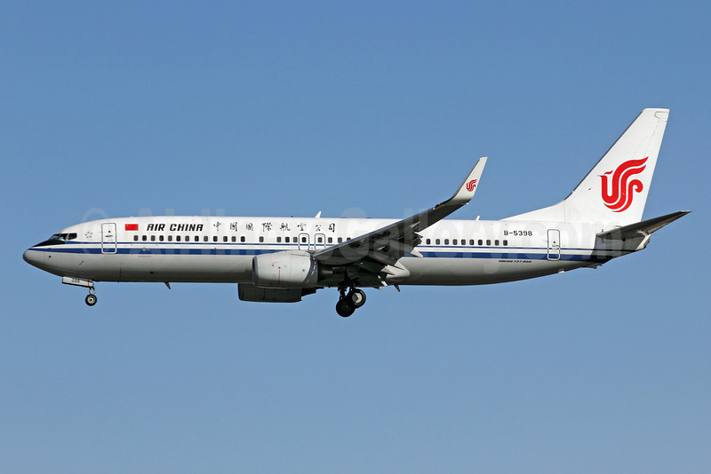 Air China Boeing 737-89L WL B-5398 (msn 36490) PEK (Michael B. Ing). Image: 907444.