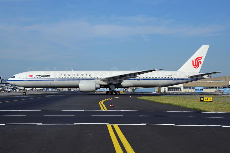 Air China Boeing 777-39L ER B-2036 (msn 38676) FRA (Ton Jochems). Image: 912895.