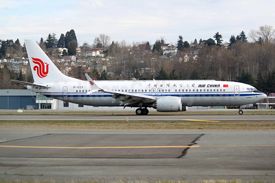 Air China Boeing 737-8 MAX B-1223 (msn 60889) BFI (Joe G. Walker). Image: 941581.