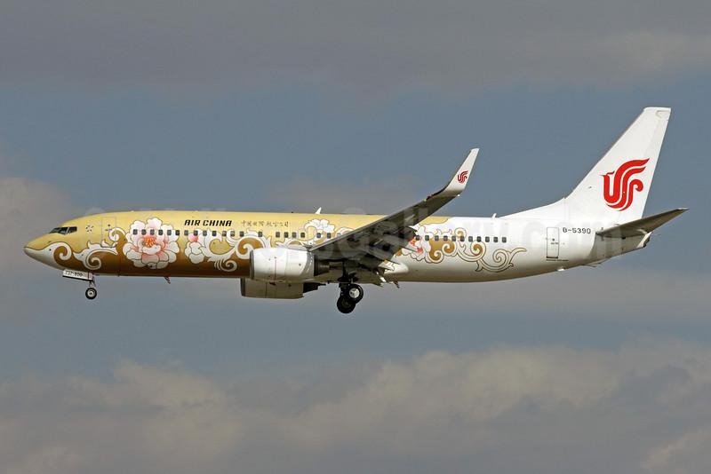 Air China Boeing 737-89L WL B-5390 (msn 36486) (Gold Tree Peony) PEK (Michael B. Ing). Image: 907815.