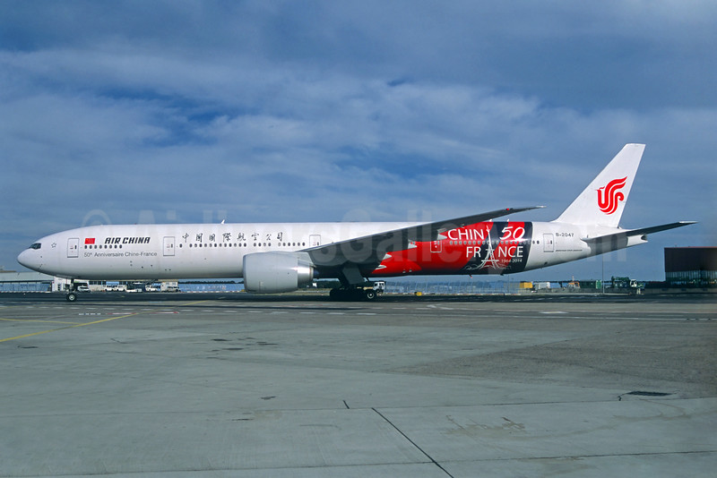 Air China Boeing 777-39L ER B-2047 (msn 60374) (50th Anniversary of Chinese-French Diplomatic Relations 1964-2014) FRA (Jacques Guillem Collection). Image: 924824.