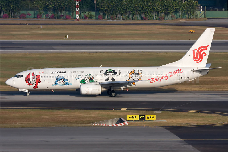 Air China Boeing 737-86N B-5178 (msn 32682) (Beijing 2008) SIN (Ole Simon). Image: 903506.