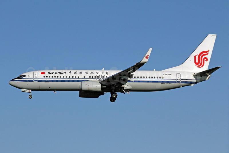 Air China Boeing 737-89L WL B-5518 (msn 36754) PEK (Michael B. Ing). Image: 907447.