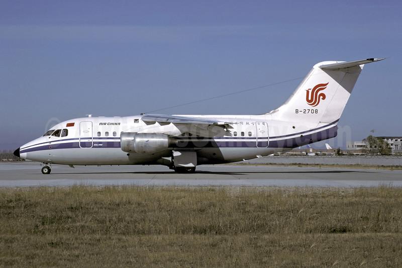 Air China BAe 146-100 B-2708 (msn E1081) PEK (Christian Volpati Collection). Image: 941287.
