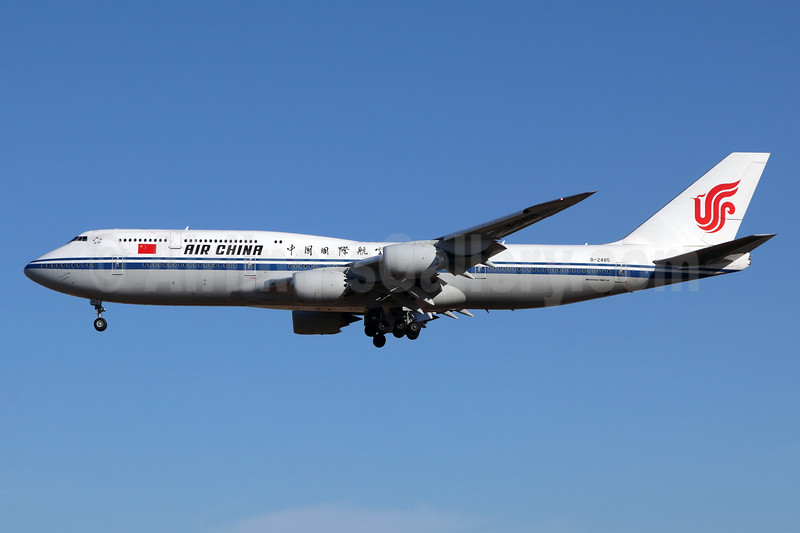 The first Boeing 747-800 for Air China
