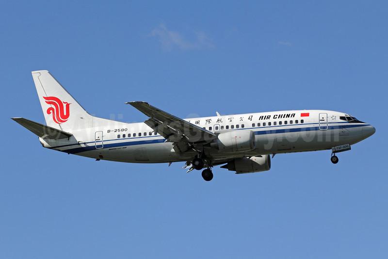 Air China Boeing 737-3J6 B-2580 (msn 25080) PEK (Michael B. Ing). Image: 907422.