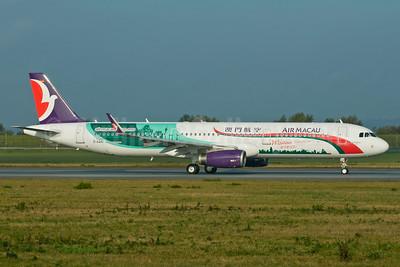 "Air Macau's new ""Macau Welcomes You!"" logo jet"