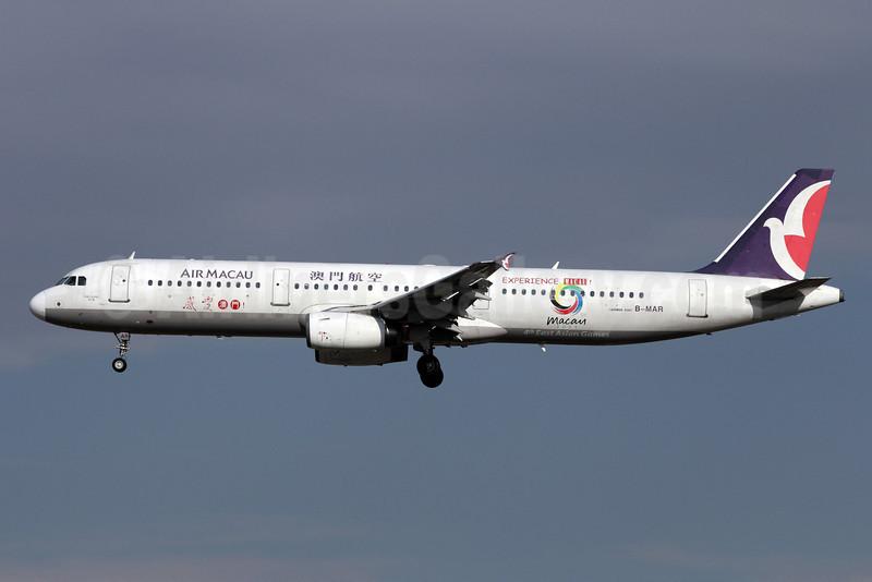 Air Macau Airbus A321-131 B-MAR (msn 597) (Experience Macau-Macau 2005-4th East Asian Games) PEK (Michael B. Ing). Image: 907820.