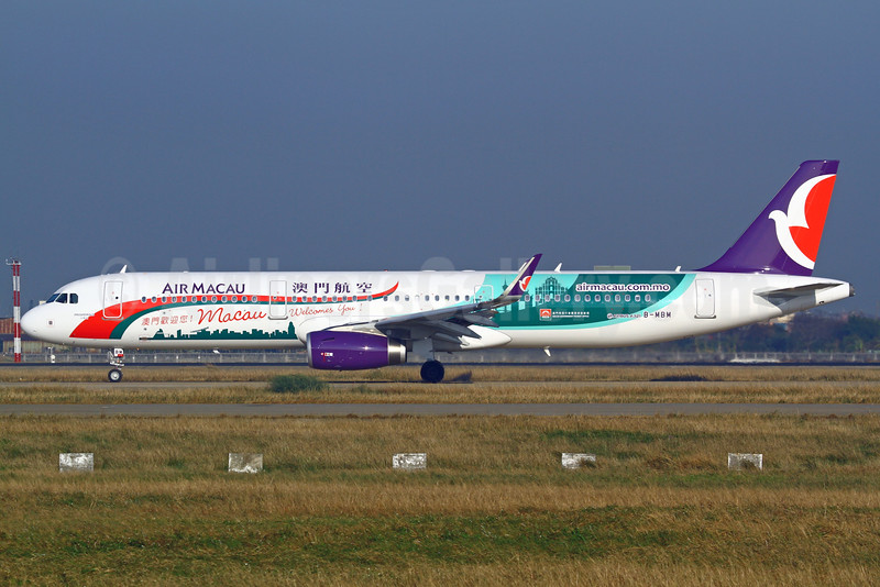Air Macau Airbus A321-231 WL B-MBM (msn 6324) (Macau Welcomes You!) TPE (Manuel Negrerie). Image: 925635.