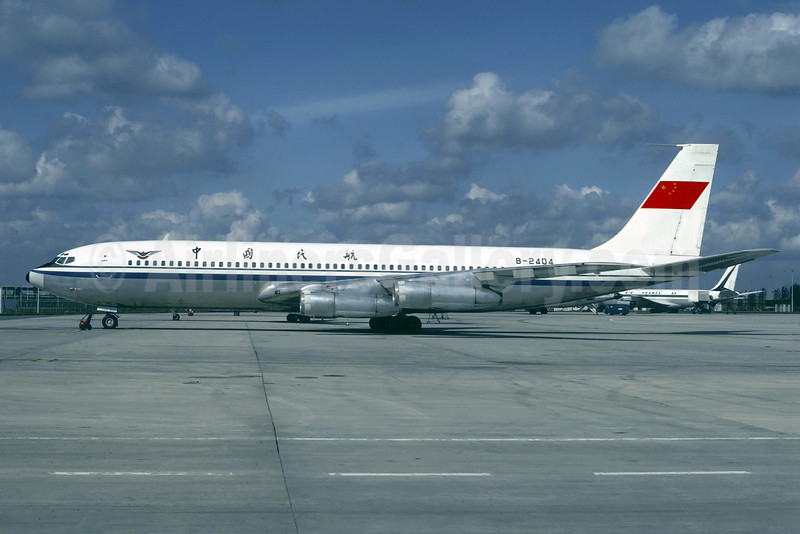 CAAC (Civil Aviation Administration of China) Boeing 707-3J6B B-2404 (msn 20715) CDG (Christian Volpati). Image: 913368.