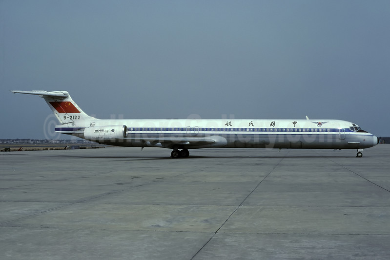 CAAC (Civil Aviation Administration of China) McDonnell Douglas DC-9-82 (MD-82) B-2122 (msn 49506) SHA (Rolf Wallner). Image: 938552.