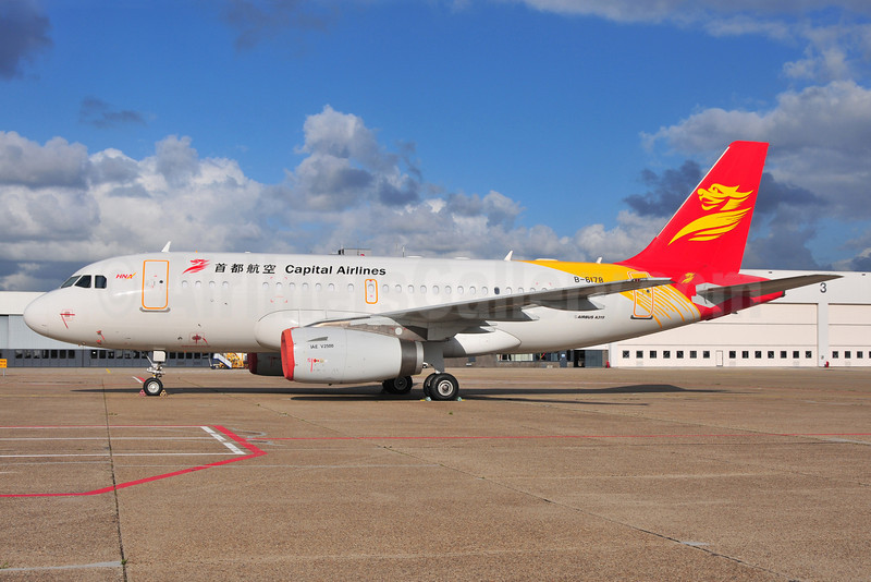 Capital Airlines (China)-HNA Airbus A319-132 B-6178 (msn 3548) AMS (Ton Jochems). Image: 905454.