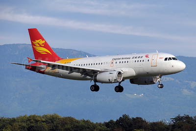 Capital Airlines (China)-HNA Airbus A319-133 B-6418 (msn 4042) GVA (Paul Denton). Image: 907281.