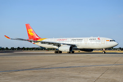 Capital Airlines (China)-HNA Airbus A330-243 B-8019 (msn 1020) LHR (Wingnut). Image: 943549.
