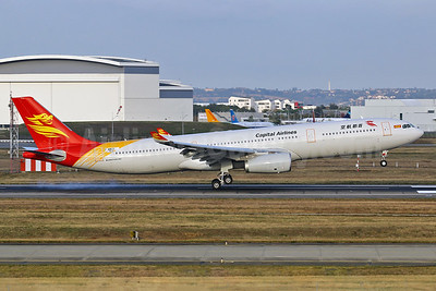 Capital Airlines (China)-HNA Airbus A330-343 F-WWCG (B-8678) (msn 1753) TLS (Eurospot). Image: 939642.