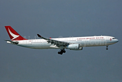 Cathay Dragon Airbus A330-343 B-LBE (msn 1523) HKG (TMK Photography). Image: 940504.