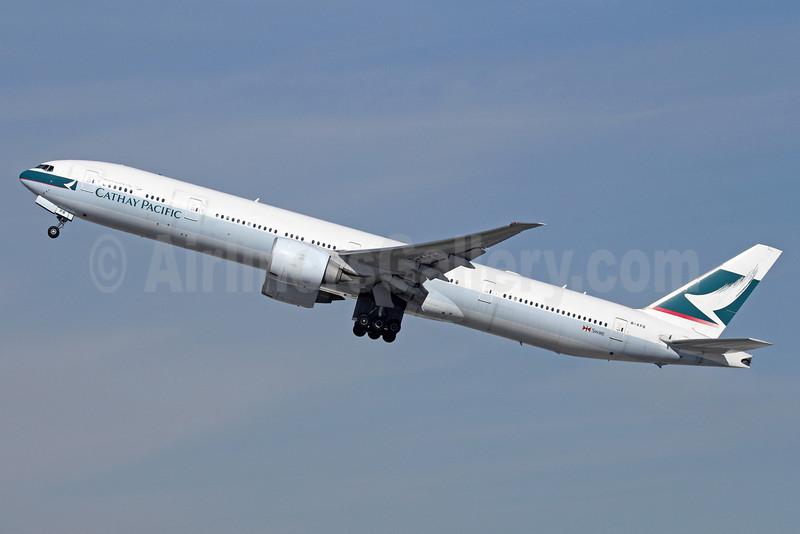Cathay Pacific Airways Boeing 777-367 ER B-KPB (msn 35299) LAX (Michael B. Ing). Image: 911293.