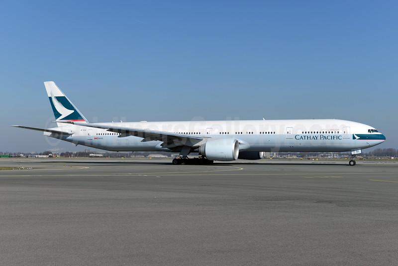 Cathay Pacific Airways Boeing 777-367 ER B-KQL (msn 41431) AMS (Ton Jochems). Image: 927467.