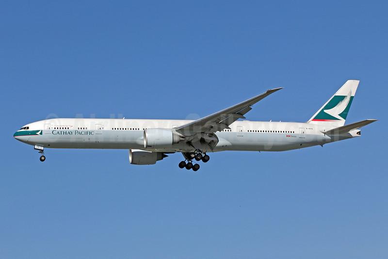 Cathay Pacific Airways Boeing 777-367 ER B-KPK (msn 36158) LAX (Michael B. Ing). Image: 908453.