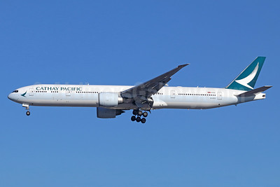Cathay Pacific Airways Boeing 777-367 ER B-KPU (msn 39233) LAX (Michael B. Ing). Image: 940212.