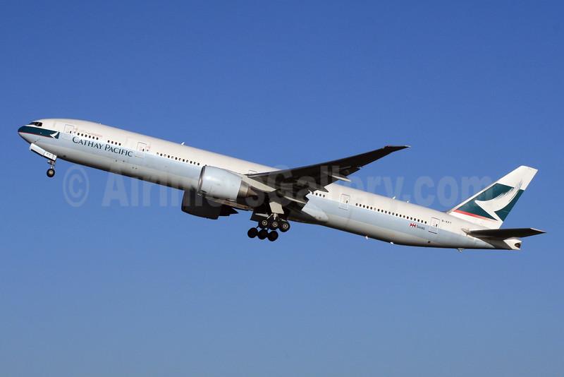 Cathay Pacific Airways Boeing 777-367 ER B-KPT (msn 37896) LHR (SPA). Image: 926104.