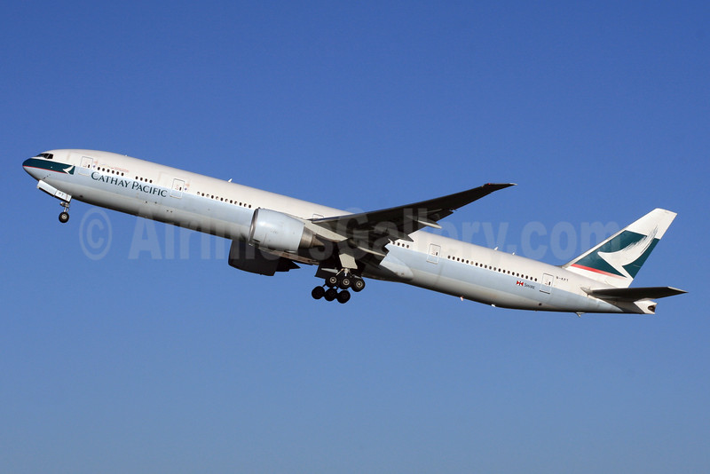 Cathay Pacific Airways Boeing 777-367 ER B-KPT (msn 37896) LHR (SPA). Image: 926104.