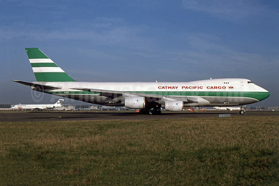 Cathay Pacific Airways Cargo Boeing 747-267F B-HVX (msn 24568) LHR (SPA). Image: 955481.