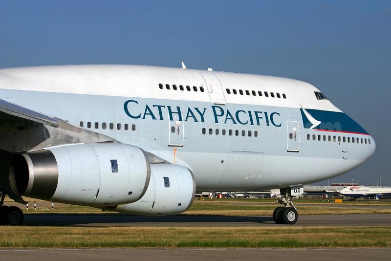 Cathay Pacific Airways Boeing 747-467 B-HOO (msn 23814) LHR. Image: 924573.
