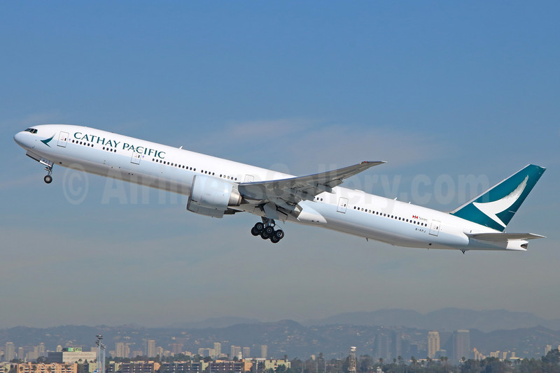 Cathay Pacific Airways Boeing 777-367 ER B-KPJ (msn 36157) LAX (Michael B. Ing). Image: 935283.