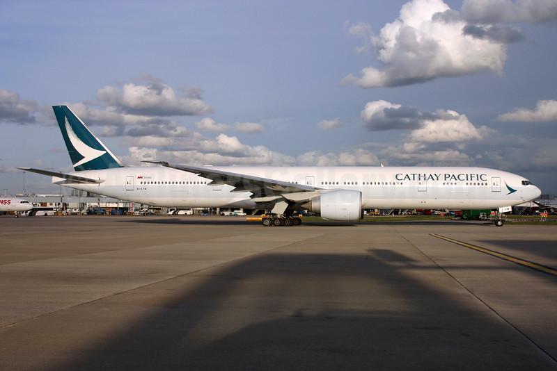 Cathay Pacific Airways Boeing 777-367 ER B-KPM (msn 36159) LHR. Image: 932318.
